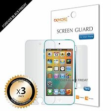 3x Anti-Scratch HD Clear Front Screen Protector Guard For iPod Touch 5