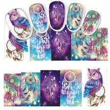 Nail Art Water Decals Transfer Stickers Mystic Owl Dreamcatchers (STZ437)