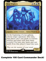 MTG Commander EDH Deck Sen Triplets 100 Magic Cards Custom Deck Esper Artifacts