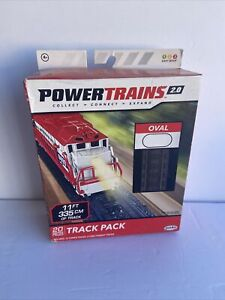 Power Trains 2.0 Oval Track Pack 11 Ft 335 Cm Of Track 20 Pieces Jakks NEW