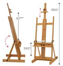 Stabile Studiostaffelei 147, Keilrahmen bis 200cm, Profi, Holz, Atelierstaffelei