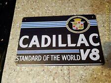 Cadillac Sign Cadillac Tin Sign Garage Shop Sign V8 Mancave Shop Metal Sign Art