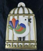 Original Thun Bozen Italy Vogel Käfig Vogelkäfig Keramik 28 cm Rare selten R4RB