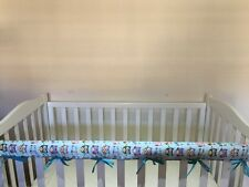 Reversible Baby Cot Crib Teething Rail Cover Protector ~ Colourful Owls