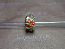 ** Original Lovelinks * Heart to Heart naranja plata encanto **