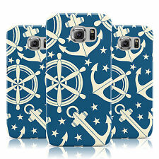 DYEFOR WHITE ANCHOR PRINT ROYAL BLUE CASE COVER FOR SAMSUNG GALAXY MOBILE PHONES