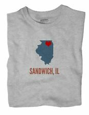 Sandwich Illinois IL T-Shirt HEART