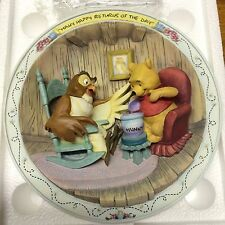 "Disney Winnie The Pooh Bradford Exchange 3D Collect Plate ""Many Happy Returns """