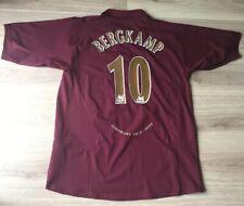 Arsenal Bergkamp 10 Shirt Nike Original Last Season At Highbury Kit 2006 XL. VGC