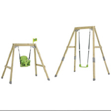 TP Forest Growable Acorn Swing Frame Including 2 Seats Wooden Baby Swing Set