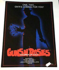 Guns N' Roses Columbus Ohio OH Show Poster 09/23/21 Freddy Krueger PRO SHIPPING