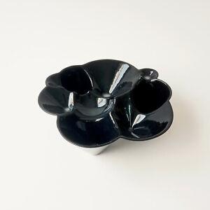 Black Ceramic Handmade Bowl, Experimental, Contemporary