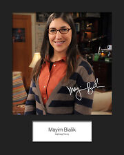 TBBT MAYIM BIALIK #2 10x8 Mounted Signed Photo Print (Reprint) - FREE DELIVERY