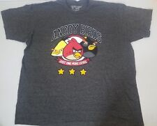 Angry Birds Men's Graphic T-Shirt Tee Fifth Sun Size 2XL Gray Red Yellow
