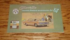1967 Chevrolet Chevelle Custom Feature Accessories Sales Brochure 67 Chevy