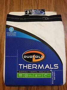 Duofold Thermals Moisture Control Ankle Length White Pant Men's 2XL *NWT*