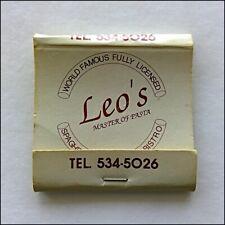 Leo's Master Of Pasta Piano Bar 55 Fitzroy St Kilda 5345026 Matchbook (MK78)