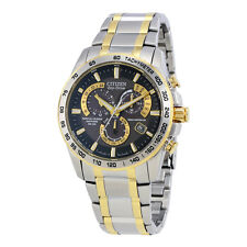 Citizen Perpetual Chrono A-T Black Dial Mens Watch AT4004-52E