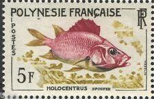 French Polynesia 1962, Fish 5 Fr Holocentrus Spinifer MNH VF/XF