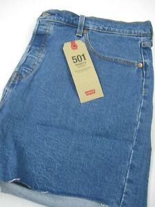 Levi's Women's Shorts 501 High Rise Size 18W Blue Denim