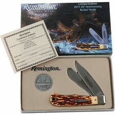 Remington 35th Anniversary Stag Handle Bullet Folding Pocket Knife
