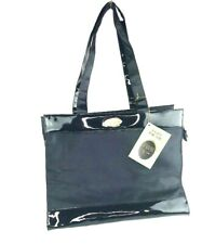 Christian Dior Tendre Poison Womens Large Glossy Black Shoulder Bag Tote NWT