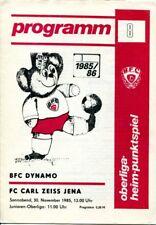 Programmheft, BFC Dynamo - FC Carl Zeiss Jena, Oberliga-Heim-Punktspiel 1985 /29