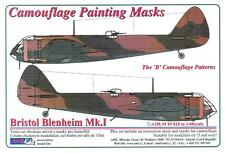 "AML Models 1/48 CAMOUFLAGE PAINT MASKS BRISTOL BLENHEIM Mk.I ""B"" Patterns"""