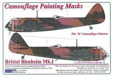 "AML Models 1/48 CAMOUFLAGE PAINT MASKS BRISTOL BLENHEIM Mk.I ""B"" Patterns"""