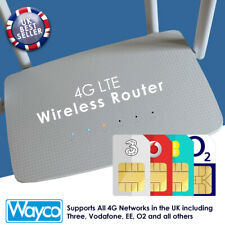 More details for 4g wireless router 300mbps quad antenna wifi hotspot & sim card slot unlocked uk