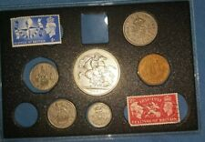 More details for 1951🔹️festival of britain set 6x coins & 2 stamps uncirculated king george vi