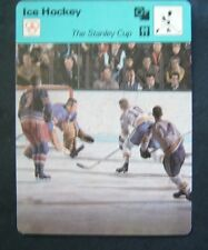 1977-1979 Sportscaster Card Ice Hockey The Stanley Cup 02-13
