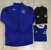 Boys bundle job lot Everton padded/training jackets shirt size XLB/158 Umbro