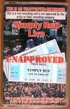 Simply Red Live, Unapproved, Simply Red - Cassette Tape
