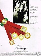 Publicité advertising 1989 Les Montres Poiray