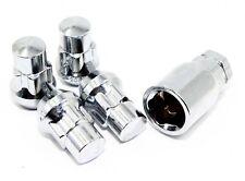4 Chrome Acorn Bulge Wheel Lug Nut Locks 12x1.5 Toyota 4Runner Tacoma Rav4