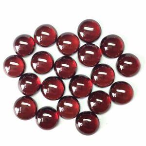 Natural Garnet Hyderabadi 6X6 mm Round Cabochon Loose Gemstone Pink Gems