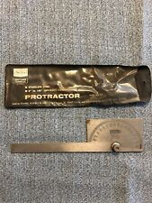 Vintage Craftsman Stainless Steel Protractor  9 4029