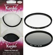 Kenko By Hoya 52mm UV MC & 52mm Circular Polarising Slim Twin Filter Kit -New