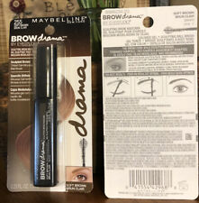 LOT OF 2-Maybelline Brow Drama/Eye Studio Sculpting Brow Mascara- #255Soft Brown