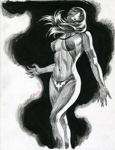 Steve Rude Vampirella Ink And Pen Sketch 11x14
