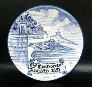 """PIATTO IN CERAMICA di ALBISOLA """" 22° MONTECARLO / ALASSIO 1991 """" CICLISMO BICI"""
