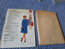 Vintage 1970s Silver Needles sewing pattern No: 27 Lady's dress & jacket uncut