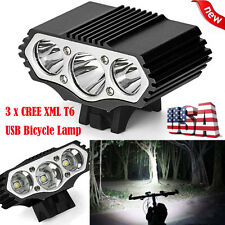 12000LM XML T6 LED 4 Modes Bicycle Lamp Bike Light Headlight USB Cycling Torch