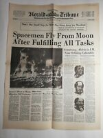 N197 La Une Du Journal herald tribune 22 juillet 1969 spacemenen fly from moon