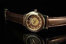 Excellanc braune Quartz Damen Armbanduhr mit Crystal Steinchen Damenuhr Analog