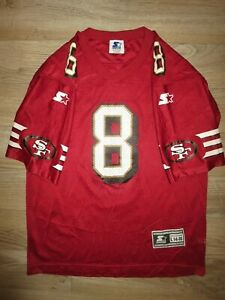 Steve Young #8 San Francisco 49ers NFL Football Jersey Youth LG 14-16