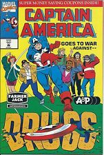 CAPTAIN AMERICA GOES TO WAR AGAINST DRUGS GIVEAWAY PROMO A&P FARMER JACK VARIANT