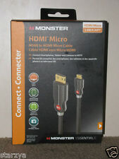 MONSTER HDMI MICRO - HDMI to HDMI Micro Cable - 1.5M/4.92FT BNIB