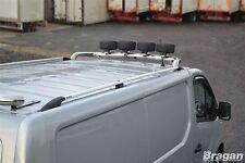 Per adattarsi 2014+ RENAULT TRAFIC gradino in alluminio metallo BARRE PORTAPACCHI RACK BARRE Van